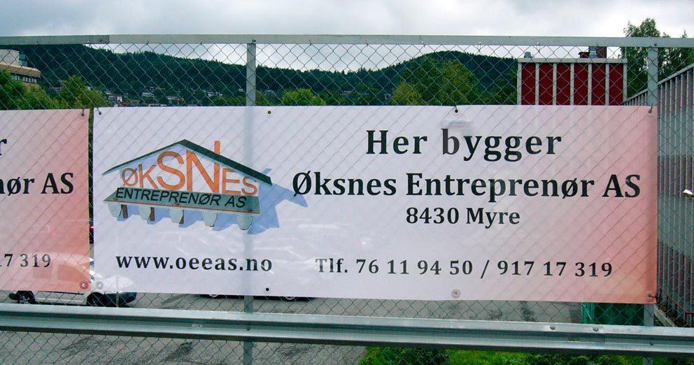 Mesh-banner, perforert PVC-banner, byggebanner
